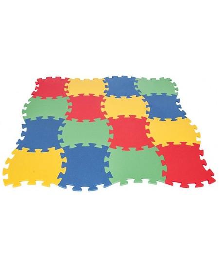 Lavinamasis įvairių spalvų kilimėlis-dėlionė WOOPIE, 16 detalių