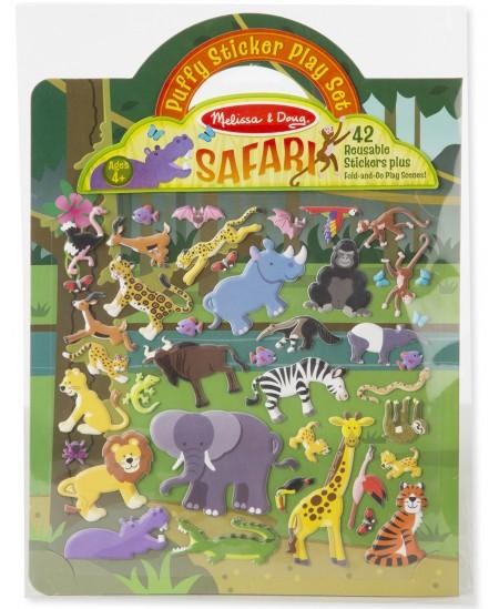 Daugkartinių lipdukų rinkinys MELISSA & DOUG Safari