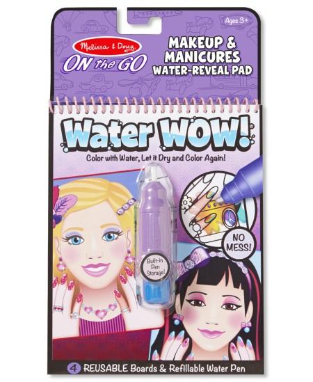"""Piešimo vandeniu knyga MELISSA & DOUG Water Wow \""""Makiažas ir manikiūras\"""""""