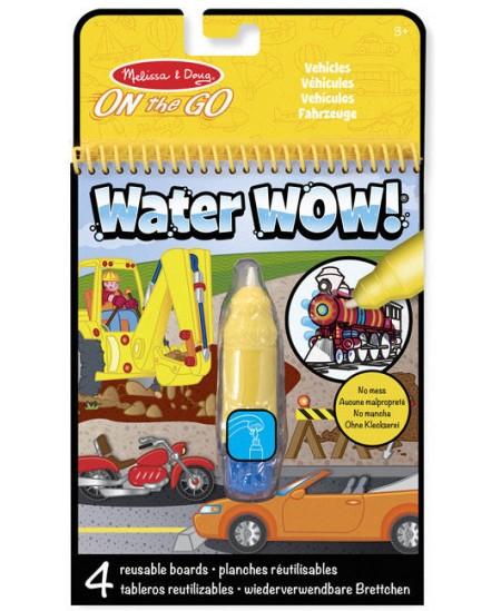 """Piešimo vandeniu knyga MELISSA & DOUG Water Wow """"Transportas"""""""