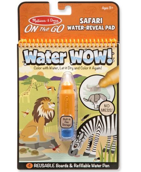 """Piešimo vandeniu knyga MELISSA & DOUG Water Reveal \""""Safaris\"""""""