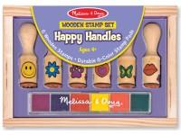 Medinių antspaudų su rankenėlėmis rinkinys MELISSA & DOUG
