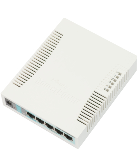 MikroTik Switch RB260GS 10/100/1000 Mbit/s, Ethernet LAN (RJ-45) ports 5, SFP ports quantity 1, Desktop, POE-in