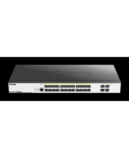 D-Link Switch DGS-3000-28XS Managed L2, Rack mountable, SFP ports quantity 24, SFP+ ports quantity 4, Power supply type Redundan