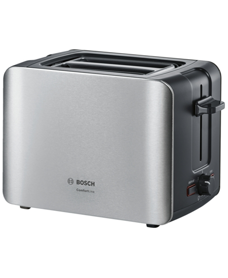 Bosch Toaster TAT6A913 Stainless steel, Stainless steel, 1090 W, Number of slots 2, Number of power levels 6, Bun warmer include