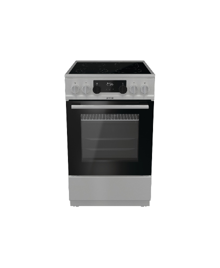 Gorenje Cooker ECS5350XA  Hob type Electric, Oven type Electric, Silver, Width 50 cm, Grilling, 70 L, Depth 59.4 cm