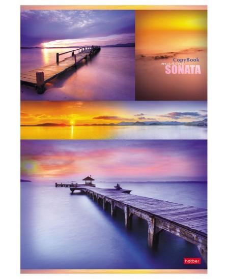 Kontorinis sąsiuvinis SUNSET, A4, 96 lapai, langeliais