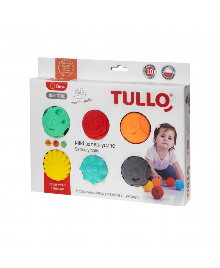 Kamuoliukai sensoriniam vystymui Tullo, veidukai, 6 vnt., 462