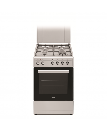 Simfer Cooker 5405SERGG Hob type Gas, Oven type Electric, Inox, Width 50 cm, Electronic ignition, 43 L, Depth 60 cm