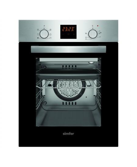 Simfer Oven 4207BERIM 47 L, Inox, Easy to clean, Pop-up knobs, Width 45 cm, Built in