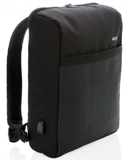 Kuprinė nešiojamam kompiuteriui su USB išvestimi, juoda