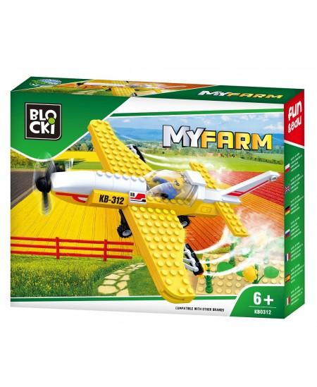 "Konstruktorius BLOCKI My Farm ""Lėktuvas laukams purkšti"", 146 detalės"
