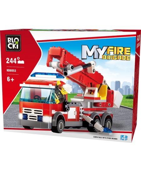 """Konstruktorius BLOCKI My Fire Brigade """"Gaisrinė mašina"""", 244 detalės"""