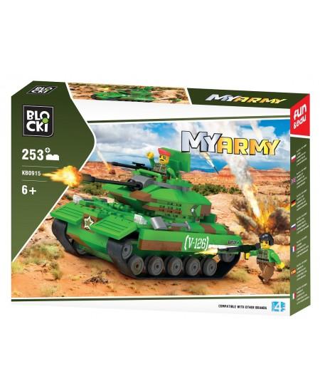 """Konstruktorius BLOCKI My Army """"Tankas dykumoje"""", 253 detalės"""