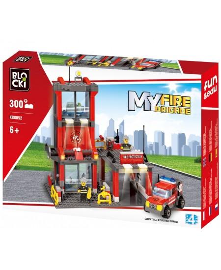 """Konstruktorius BLOCKI My Fire Brigade """"Priešgaisrinė gelbėjimo tarnyba"""", 300 detalių"""