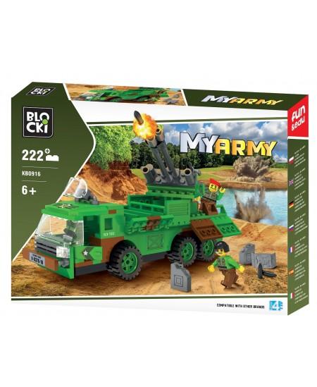 """Konstruktorius BLOCKI My Army """"Oro gynybos sistema"""", 222 detalės"""