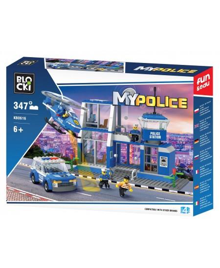"""Konstruktorius BLOCKI My Police """"Centrinė būstinė"""", 347 detalės"""