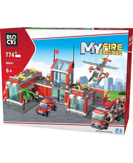 """Konstruktorius BLOCKI My Fire Brigade """"Priešgaisrinės gelbėjimo tarnybos komanda"""", 744 detalės"""