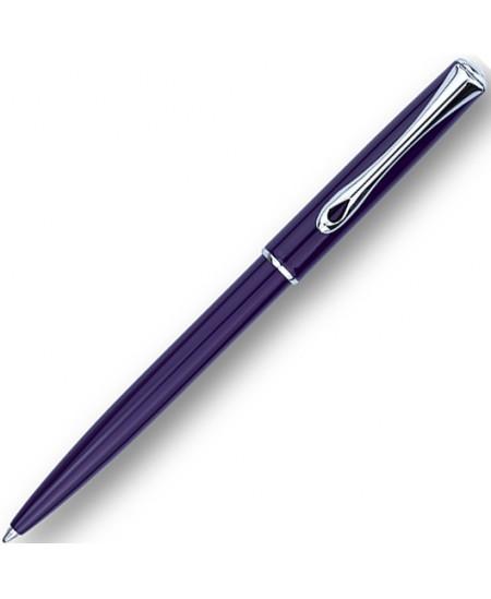 Automatinis tušinukas DIPLOMAT Traveller, tamsiai violetinis korpusas,  0.7 mm, mėlynas