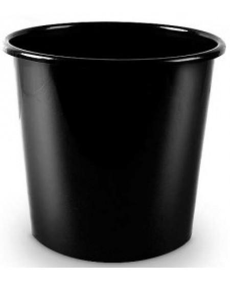 Šiukšliadėžė 10 l, perforuoto plastiko, juoda