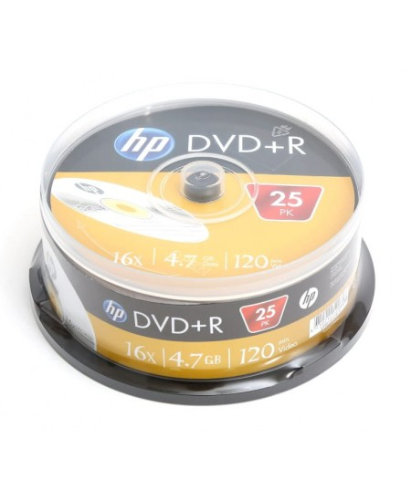 Laikmena HP DVD+R, 4.7GB, 16X, 25 vnt. iešmas