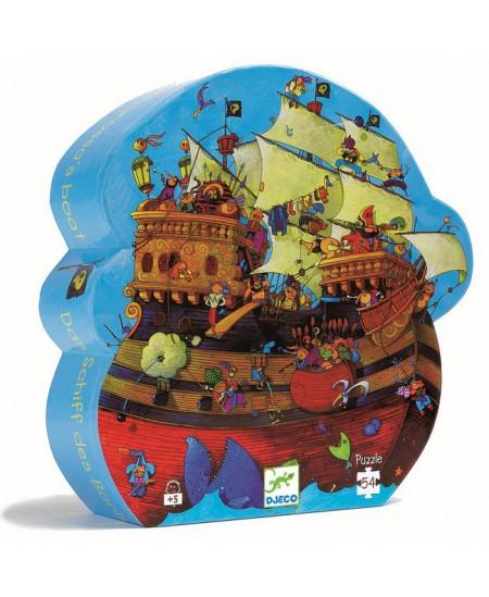 Dėlionė dailios formos dėžutėje DJECO Barbarosa laivas, 54 det.