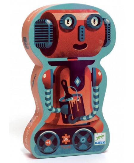 Dėlionė dailios formos dėžutėje DJECO Robotas Bobas, 36 det.