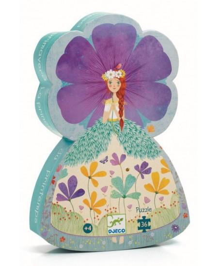Dėlionė dailios formos dėžutėje DJECO Pavasariška princesė, 36 det.