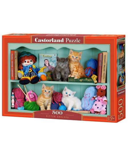Dėlionė CASTORLAND Kitten Shelves, 500 det.