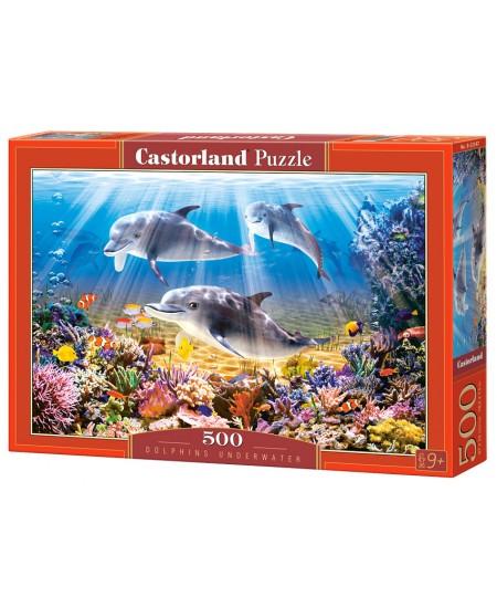 Dėlionė CASTORLAND Dolphins Underwater, 500 det.