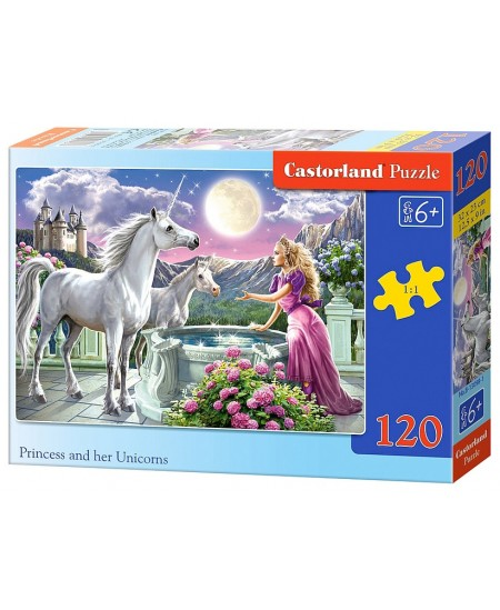 Dėlionė CASTORLAND Princess and her Unicorns, 120 det.
