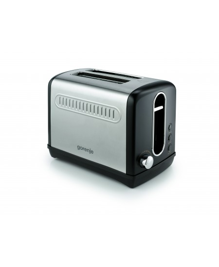 Gorenje Toaster T1100CLBK Power 1100 W, Number of slots 2, Housing material Plastic/Metal, Black