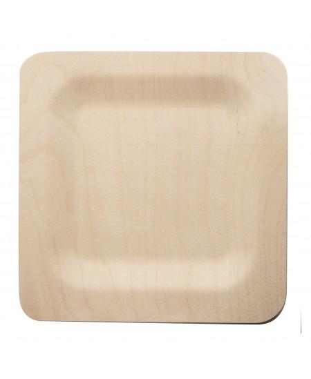 Vienkartinės kvadratinės lėkštės, 23 cm, 100 vnt.