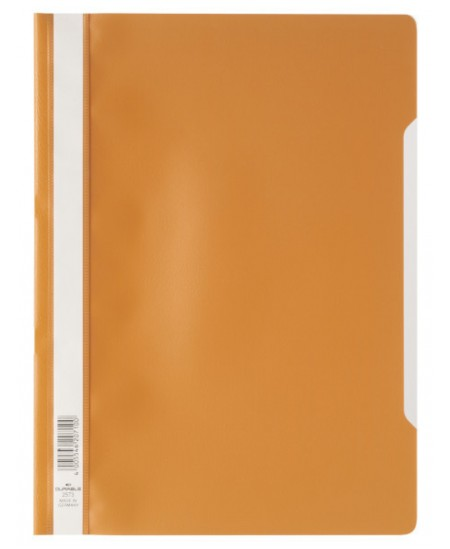 Aplankas su įsegėle DURABLE, A4 oranžinis