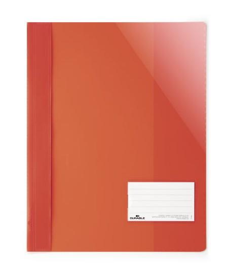 Aplankas su įsegėle DURABLE, A4+, raudonas