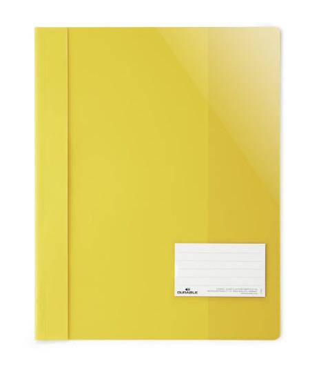 Aplankas su įsegėle DURABLE, A4+, geltonas