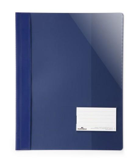 Aplankas su įsegėle DURABLE, A4+, tamsiai mėlynas