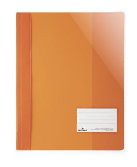 Aplankas su įsegėle DURABLE, A4+, oranžinis