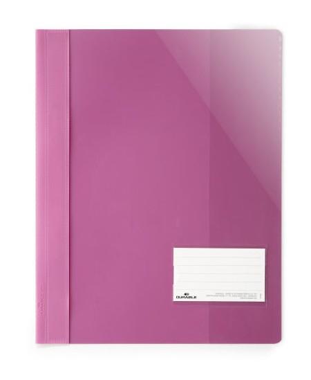 Aplankas su įsegėle DURABLE, A4+, rožinis