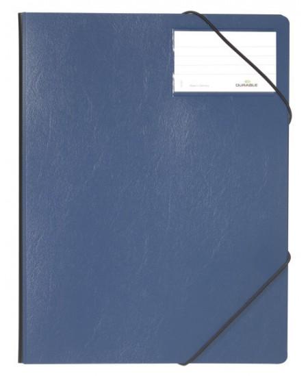 Aplankas su guma DURABLE, plastikinis, A4, mėlynas