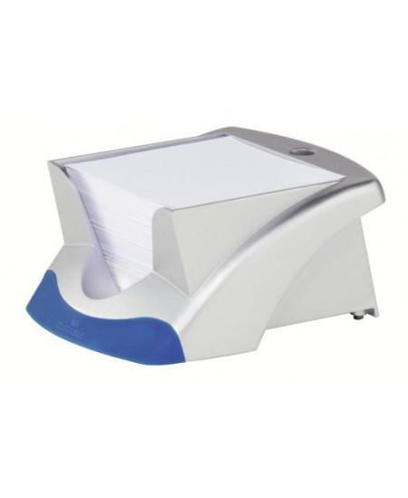 Dėžutė užrašų lapeliams DURABLE, sidabrinė