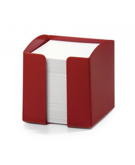 Lapeliai užrašams DURABLE raudonoje dėžutėje, 90x90 mm, 800 lapelių