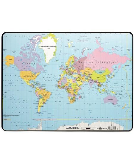 Patiesalas rašymui DURABLE su pasaulio žemėlapiu, 530x400 mm