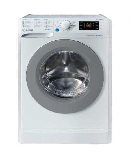 INDESIT Washing machine BWE 71283X WS EE N Energy efficiency class D, Front loading, Washing capacity 7 kg, 1200 RPM, Depth 57.5