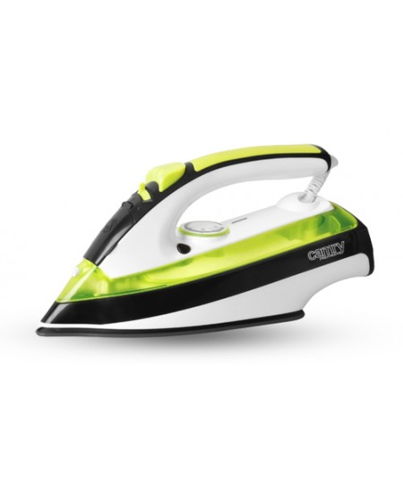 Iron Camry CR 5025 Green/White/Black, 2600 W, With cord, Anti-drip function, Anti-scale system, Vertical steam function