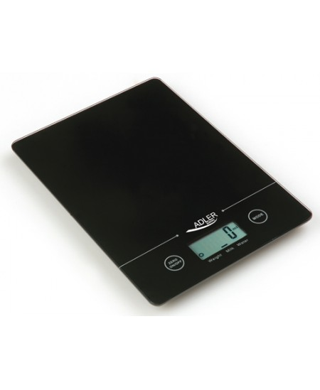 Adler Kitchen scales Adler AD 3138  Maximum weight (capacity) 5 kg, Graduation 1 g, Display type LCD, Black
