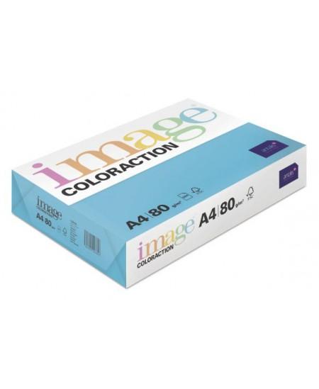 Spalvotas popierius IMAGE COLORACTION Lisbon, 80g/m2, A4, 500 lapų, vandens melsva (Aqua Blue)