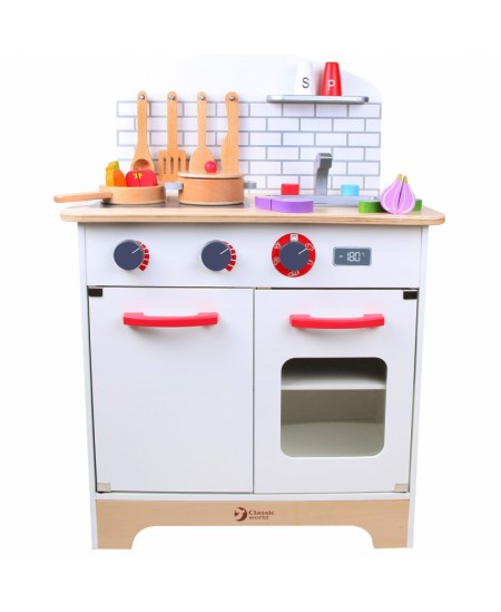 Daugiafunkcinė medinė virtuvė  CLASSIC WORLD, su priedais