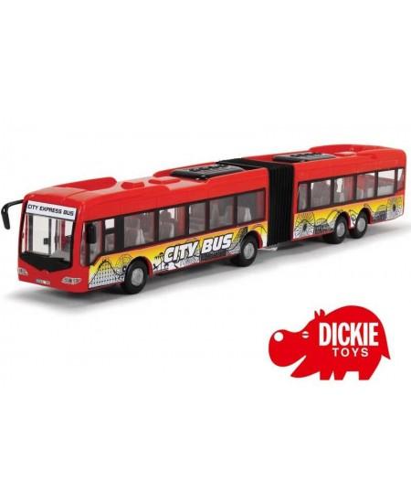 Ilgas miesto autobusas DICKIE, raudonas