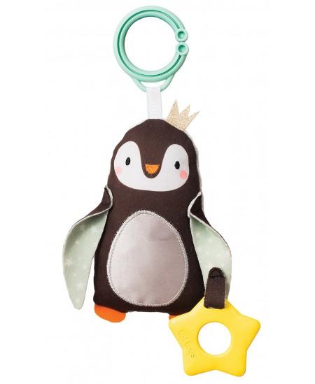 Pakabinamas barškutis su kramtuku TAF TOYS Princas pingvinas